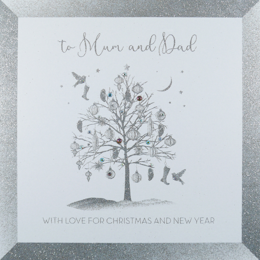 To Mum Dad Large Handmade Christmas Card Icl8 Tilt Art