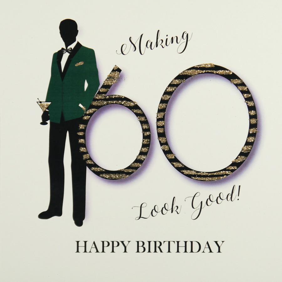 Handmade 60th Birthday Card MRM10 Sale