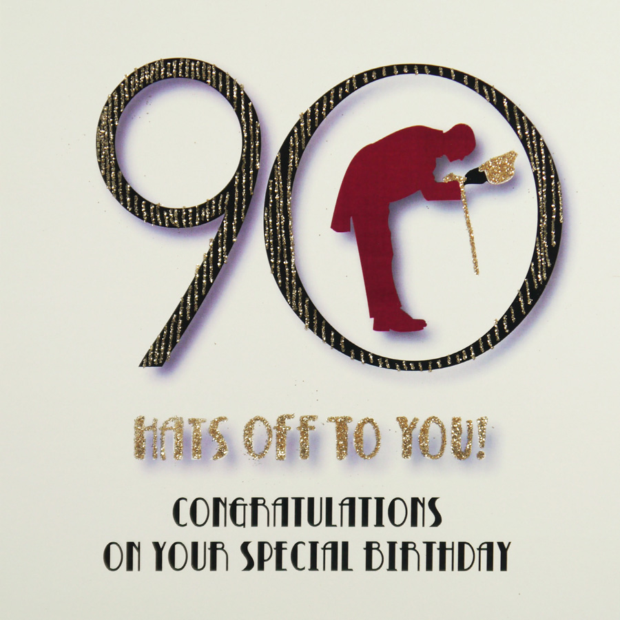 90th Birthday Card MRM13