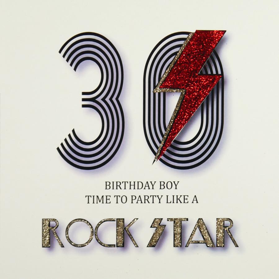 30th Birthday Card MRF5