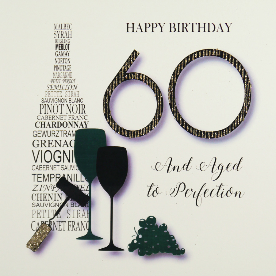 Handmade 60th Birthday Card MRM9 Sale
