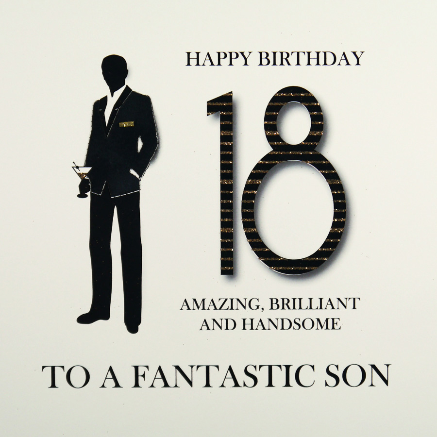 Son Large Handmade 18th Birthday Card MRM2 Sale