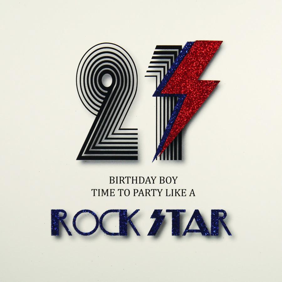 21st Birthday Card MRM3