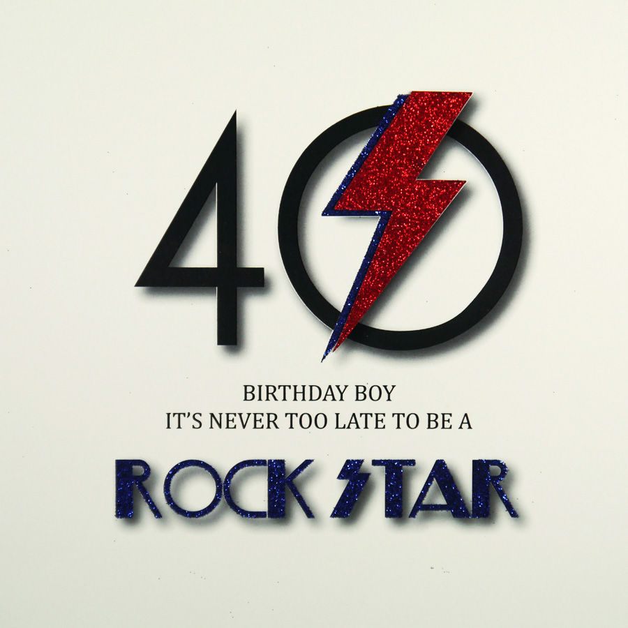 Handmade 40th Birthday Card MRM6