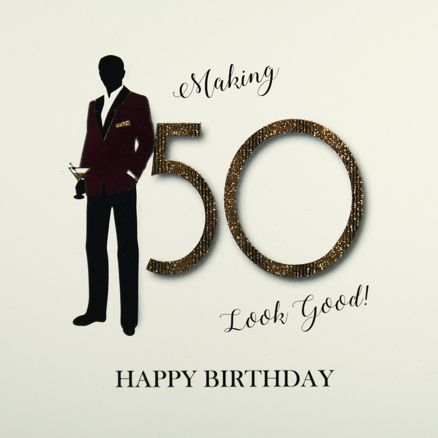 Large Handmade 50th Birthday Card MRM8 Sale