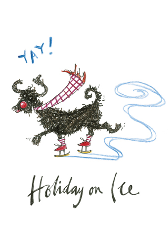 Holiday on ice sam toft open christmas card xst771 tilt art holiday on ice sam toft open christmas card m4hsunfo