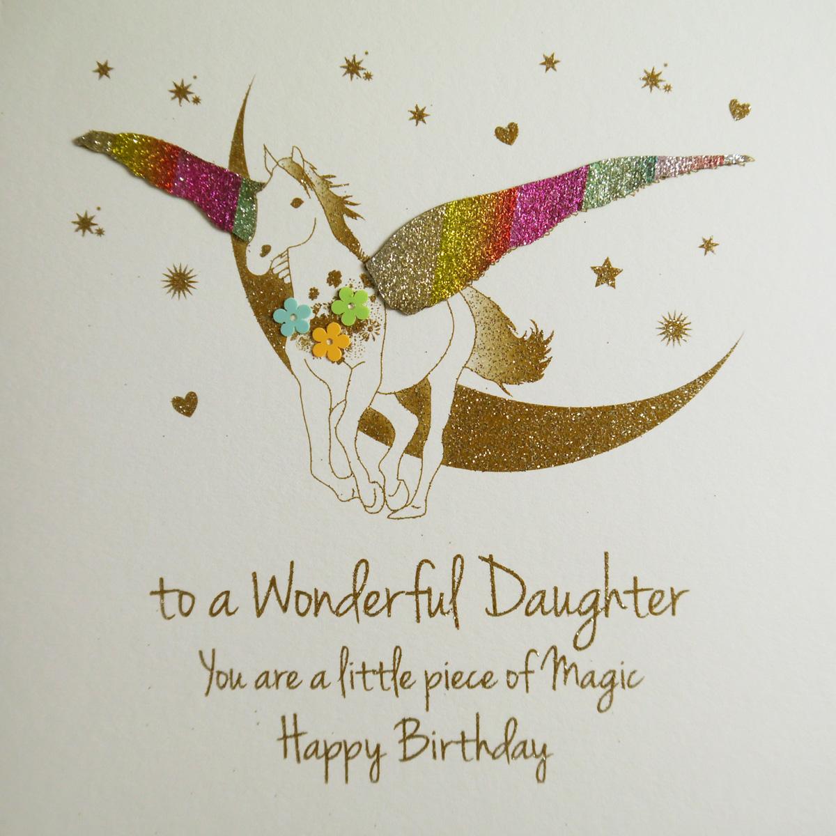 To A Wonderful Daughter Handmade Birthday Card Ne56 Tilt Art