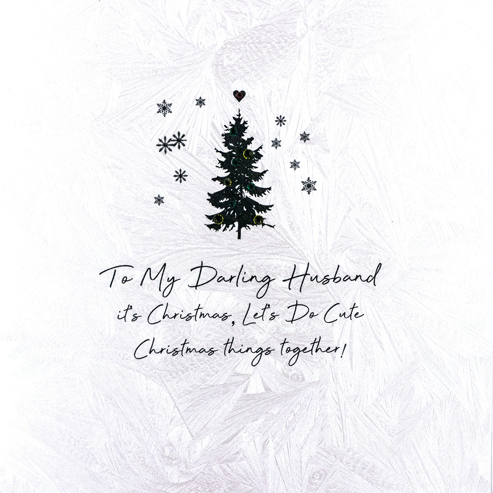 Husband Christmas Cards.To My Darling Husband Handmade Christmas Card Dr11