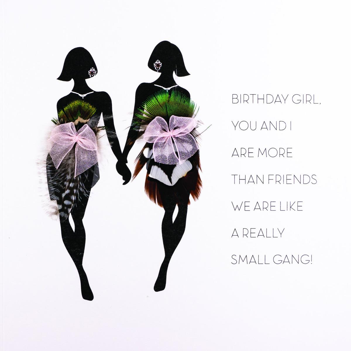Birthday Girl You And I Are More Than Friends Handmade Birthday Card Fof4 Tilt Art